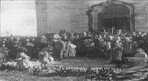1 Φεβρουαρίου 1955: οι κάτοικοι του Χαρβατίου γιορτάζουν με μεγαλοπρέπεια τον Πολιούχο του χωριού τους
